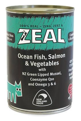 Zeal Ocean Fish, Salmon & Vegetables (Adult) Canned Food 390g