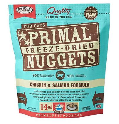 Primal FELINE Freeze-Dried Chicken & Salmon Formula ( 14oz X 2packets )