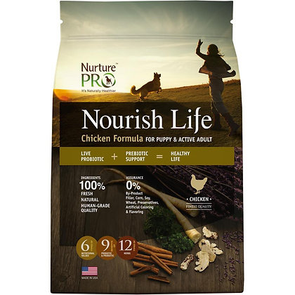 Nurture Pro Nourish Life Chicken Puppy & Adult Dry Food ( 4lb / 12.5lb / 26lb )