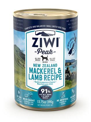 Ziwi Peak Mackerel & Lamb Canned Dog Food ( 390g )
