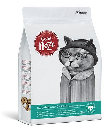 Good Noze Feline Freeze Dried NZ Lamb & Chicken (350g)