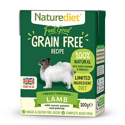 Naturediet Feel Good Grain Free Dog Food Lamb ( 200g/ 390g )