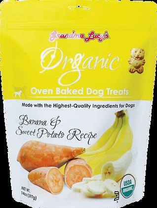 Grandma Lucy's Organic Oven Baked Dog Treats Banana & Sweet Potato (