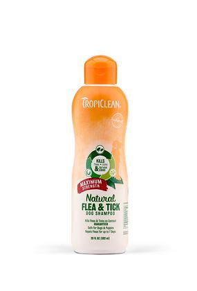 Tropiclean Natural Flea & Tick Shampoo, Maximum Strength
