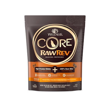 Wellness Core RawRev Original + 100% Raw Turkey ( 4lb / 10lb/ 20lb )