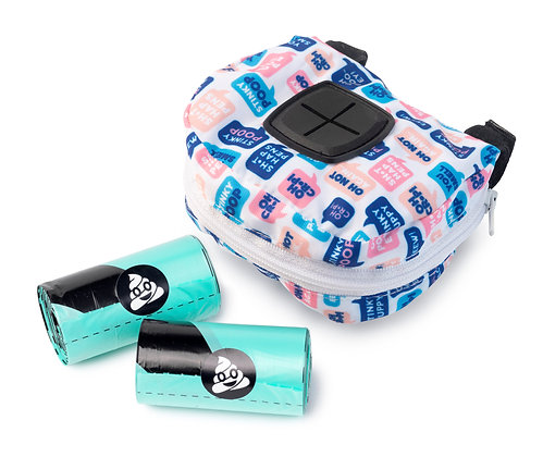 Fuzzyard What The Poop Dispenser Bag + 2 Rolls Of Poop Bags