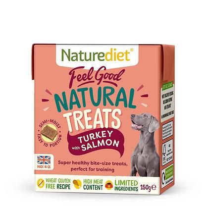 Naturediet Feel Good Natural Treats Turkey & Salmon (150g)