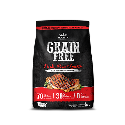 Absolute Holistic Grain Free Pork, Peas, Lentils Dry Food ( 3.3lbs / 22lbs )