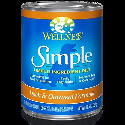 Wellness Duck & Oatmeal Formula canned ( 12.5oz )