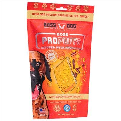 Boss Dog Brand Propuffs Treats Cheddar & Bacon Flavor (170g)