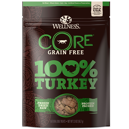 Wellness Core Turkey 100% Freeze Dried Treats (2oz)