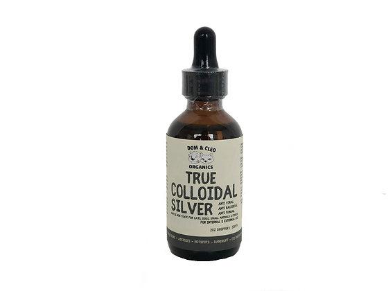 Dom & Cleo True Colloidal Silver Dropper / Spray 2oz