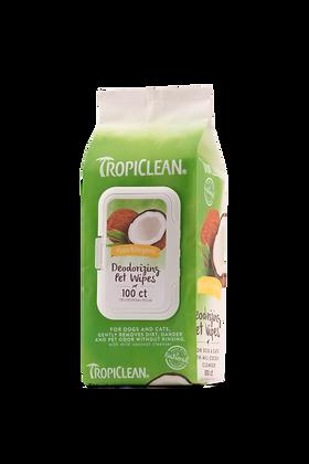 Tropiclean Hypoallergenic Deodorizing Pet Wipes (50wipes)