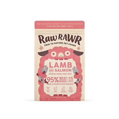Raw Rawr Salmon & Lamb Freeze Dried Balanced Diet Pet Food ( 400g/100g )
