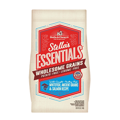 Stella & Chewy's Essentials Wholesome Grains Whitefish, Ancient Grains & Salmon