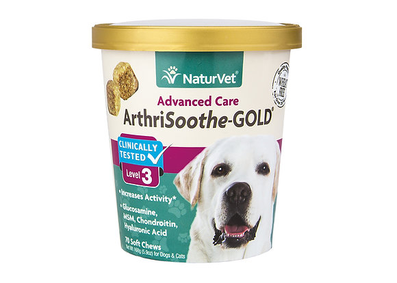 NaturVet Arthrisooth-GOLD Level 3 Soft Chew Cup ( 70 ct )