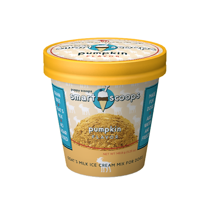 SMARTSCOOPS lactose free Goat's Milk Ice Cream Mix - Pumpkin