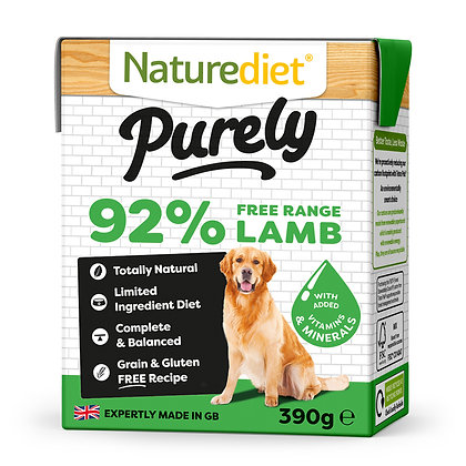 Naturediet Purely Dog Food Free Range Lamb ( 390g )