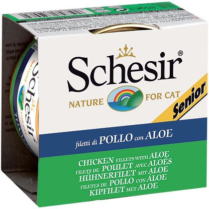 Schesir Chicken Fillets & Aloe Canned For SENIOR CATS ( 85g )