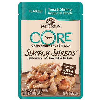 Wellness Core Simply Shreds FOR CATS Tuna & Shrimp (1.75oz)