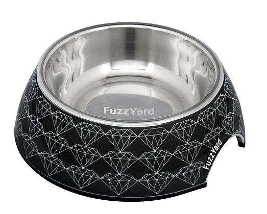 Fuzzyard Black Diamond Easy Feeder Bowl