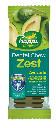 Happi Doggy Gluten Free 4inches Avocado Dental Chew