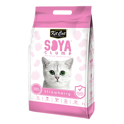Kit Cat Soya Clump Strawberry ( 7Litre )