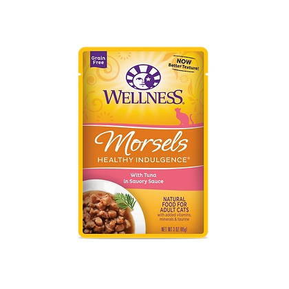 Wellness Healthy Indulgence Grain Free Morsels Tuna Wet Food (3oz)