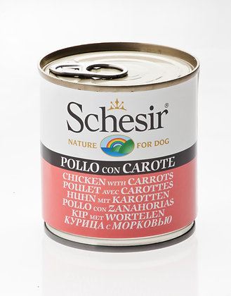 Schesir Tuna With Carrots Canned For DOGS ( 285g )