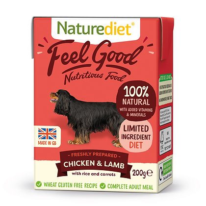 Naturediet Feel Good Dog Food Chicken & Lamb ( 200g/ 390g )