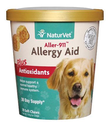 NaturVet Aller-911 Allergy Aid Plus Antioxidants Soft Chew Cup ( 70ct )