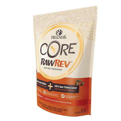 Wellness Core RawRev Indoor + 100% Raw Turkey ( 12oz/ 4.5lb/ 10lb )
