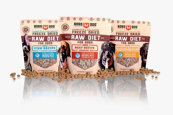 Boss Dog Freeze Dried Raw Diet BUNDLE DEAL