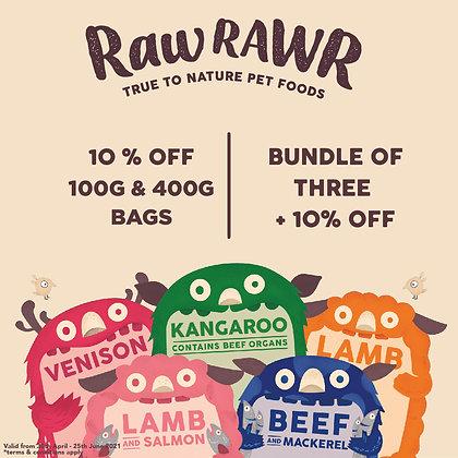 Raw Rawr Promo Bundle (400g x 3)