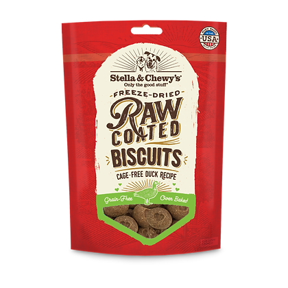 Stella & Chewy's Cage-Free Duck Raw Coated Biscuits Treats ( 9oz )
