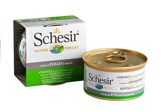 Schesir Chicken Fillets Natural Style Canned For CATS ( 85g )