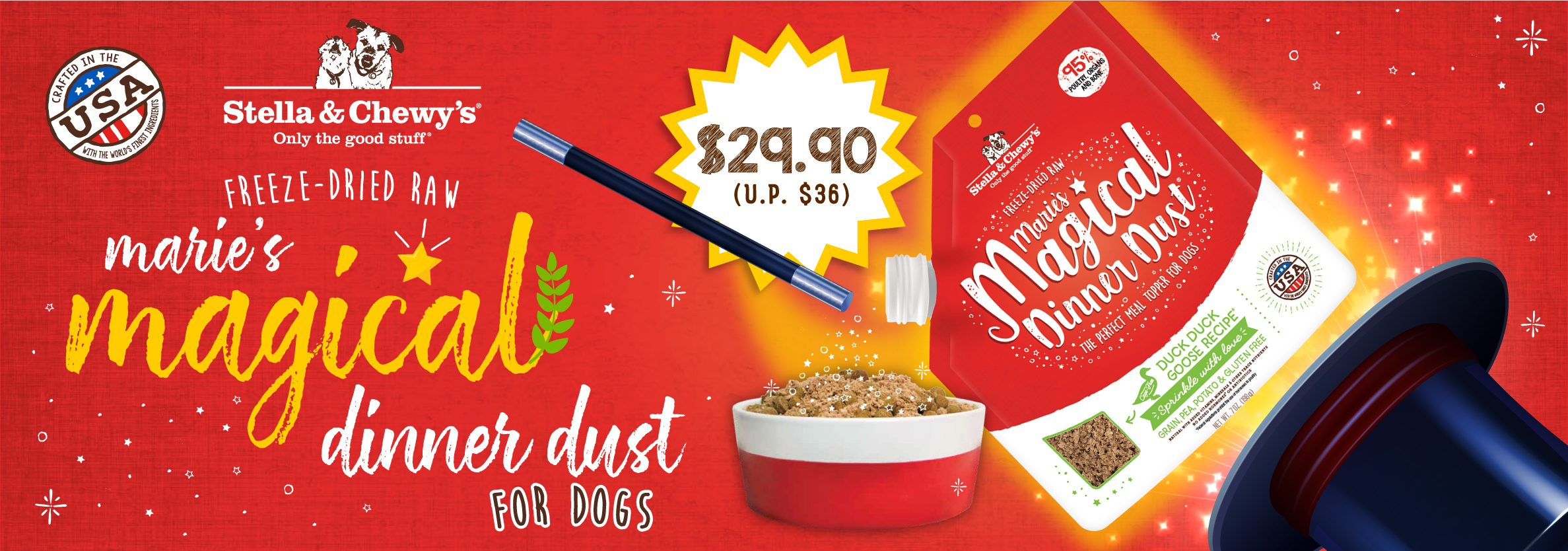 Dog Magical Dinner Dust - Launch Promo B