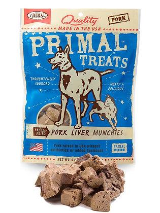 Primal Treats Freeze Dried Pork Liver Munchies ( 56g )