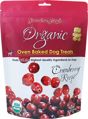 Grandma Lucy's Organic Oven Baked Dog Treats Cranberry ( 14oz )