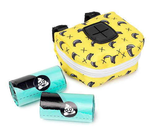 Fuzzyard Monkey Mania Dispenser Bag + 2 Rolls Of Poop Bags