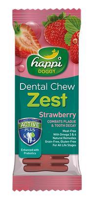 Happi Doggy Gluten Free 4inches Strawberry Dental Chew