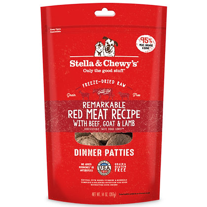 Stella & Chewy's Remarkable Red Meat Freeze-Dried Raw Dinner Patties (14oz)