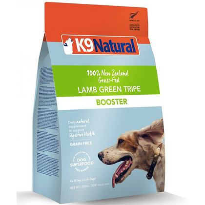 K9 Natural Freeze Dried Lamb Green Tripe Booster Dog Food 200g
