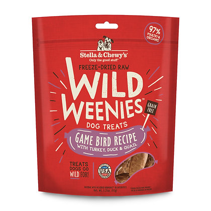 Stella & Chewy's Freeze Dried Game Bird Wild Weenies Treats ( 3.25oz )