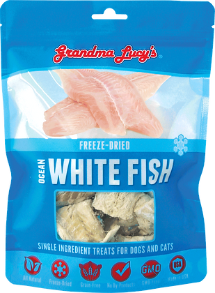Grandma Lucy's Freeze Dried Singles Ocean White Fish Treats ( 2oz )