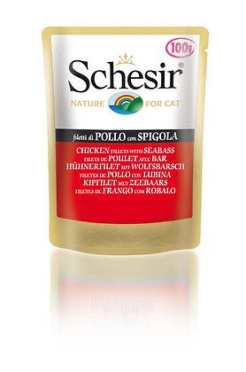 Schesir Chicken Fillets & Seabass Pouches For CATS ( 50g )