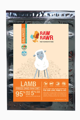 Raw Rawr Lamb Freeze Dried Balanced Diet Dog Food ( 400g/1.2kg )