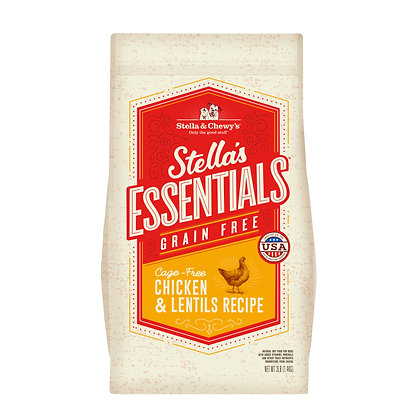 Stella & Chewy's Essentials Grain Free Chicken & Lentils Recipe ( 3lb / 25lb )