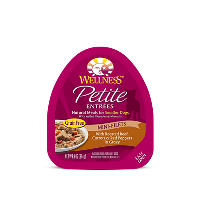 Wellness Petite Mini-Filets Roasted Beef, Carrots & Red Peppers in Gravy (3oz)
