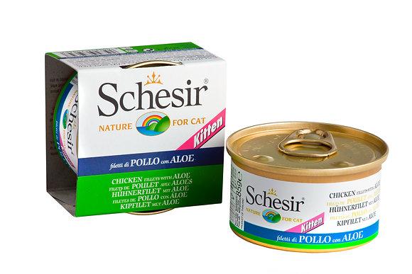 Schesir Chicken Fillets & Aloe Canned For KITTEN ( 85g )